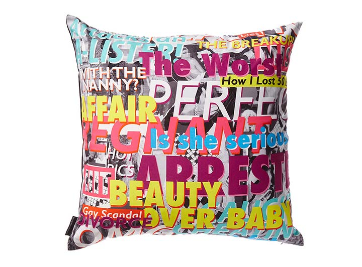 W Hollywood Headline Pillow