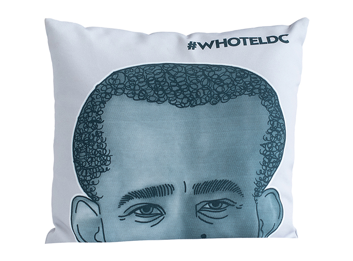 W Washington Barack Obama Pillow